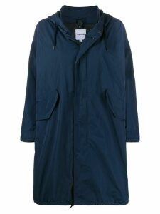 Aspesi oversized hooded coat - Blue