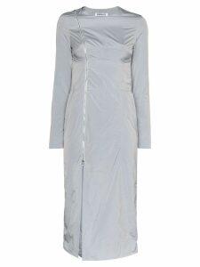 Supriya Lele asymmetric-zip midi dress - Grey