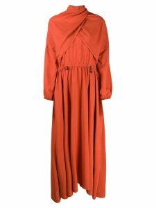 Kenzo pleated maxi dress - Orange