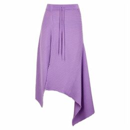 MARQUES' ALMEIDA Lilac Asymmetric Wool Skirt