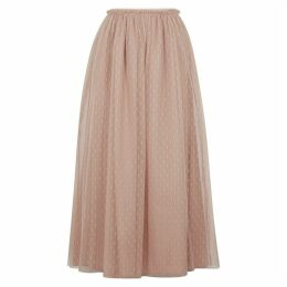 RED Valentino Blush Point D'esprit Midi Skirt
