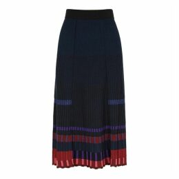 Kenzo Striped Rib-knit Midi Skirt