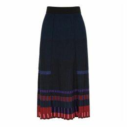 Kenzo Striped Rib-knit Midi Skirt