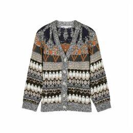 Stella McCartney Fair Isle Wool-blend Cardigan