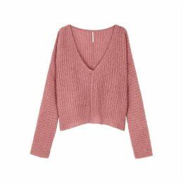 Free People Moonbeam Rib-knit Alpaca-blend Jumper