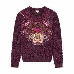 Kenzo Tiger-embroidered Wool-blend Jumper
