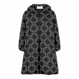 Valentino VLTN Grid-print Black Shell Coat