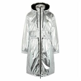 Paco Rabanne Body Silver Hooded Shell Parka