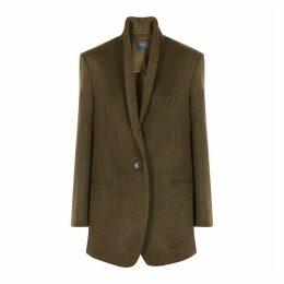 Isabel Marant Felicie Olive Wool-blend Jacket