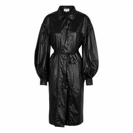 Collina Strada Osho Black Shell Trench Coat