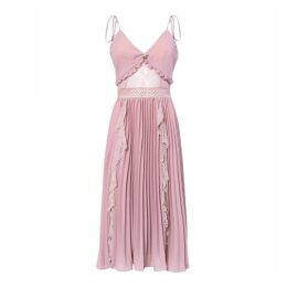 True Decadence True Decadence Dusty Pink Crepe Cami Pleated Midi Dress