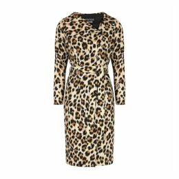 Boutique Moschino Ecru Leopard-print Dress