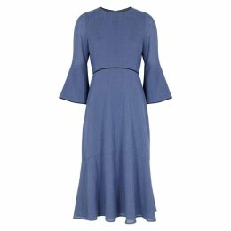 Cefinn Blue Voile Midi Dress