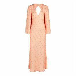 RIXO Nadia Floral-print Silk-blend Midi Dress