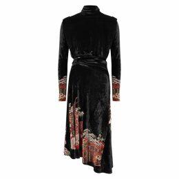 Paco Rabanne Japanese Garden-jacquard Velvet Dress