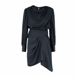 Isabel Marant Rachel Anthracite Jacquard Mini Dress
