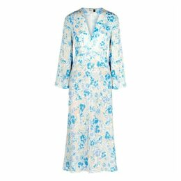 RIXO Indra Floral-print Silk Midi Dress
