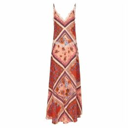 Free People Stevie Printed Textured-weave Maxi Dress