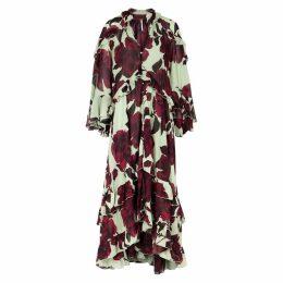 Free People Hearts Run Wild Floral-print Georgette Maxi Dress