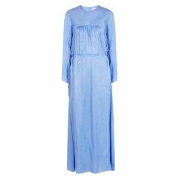 BY MALENE BIRGER Blue Jacquard Satin Maxi Dress