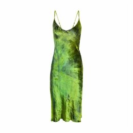 Collina Strada Barbarella Tie-dye Silk Chiffon Midi Dress