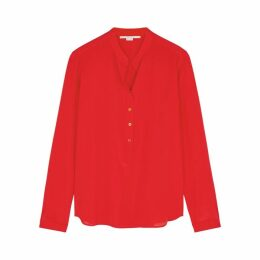 Stella McCartney Eva Red Silk Blouse