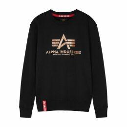 Alpha Industries Black Logo Jersey Sweatshirt