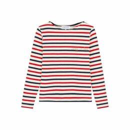 Maison Labiche Crazy In Love Striped Fine-knit Cotton Top