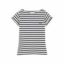 Maison Labiche Voilá Striped Fine-knit Cotton T-shirt
