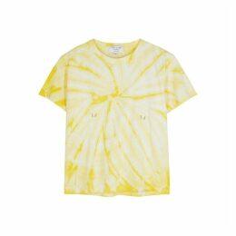 Collina Strada Yellow Tie-dye Cotton T-shirt