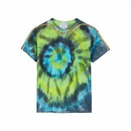 Collina Strada Fishbone Tie-dye Cotton T-shirt