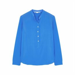Stella McCartney Eva Blue Silk Blouse