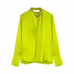 MARQUES' ALMEIDA Lime Silk Satin Blouse