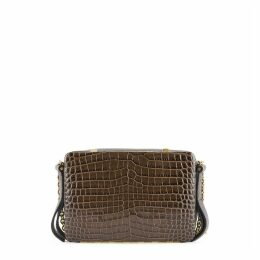 Lutz Morris Malloy Small Crocodile-effect Leather Cross-body Bag
