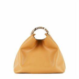 ELLEME Raisin Mustard Leather Top Handle Bag
