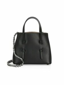 Chain Strap Leather Tote