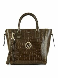 Charmont Crocodile Embossed Leather Tote