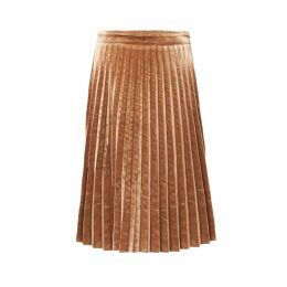 PAISIE - Pleated Velvet Skirt
