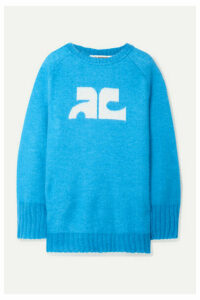 Courrèges - Intarsia Knitted Sweater - Azure