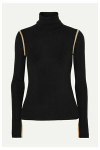 Equipment - Mourelle Ribbed Wool Turtleneck Sweater - Black