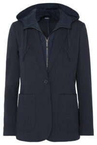 Max Mara - Leisure Convertible Hooded Jersey And Shell Blazer - Navy
