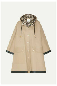 Mackintosh - Keith Hooded Bonded Cotton Cape - Beige