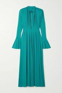 Alice + Olivia - Halima Polka-dot Crepe Mini Dress - Black