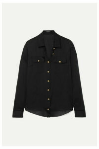 Balmain - Silk-satin Shirt - Black