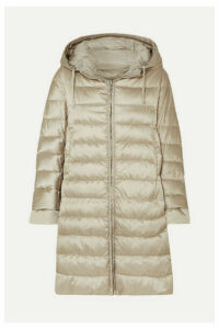Max Mara - The Cube Hooded Quilted Shell Down Coat - Taupe