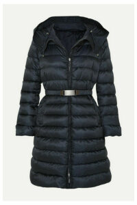 Max Mara - The Cube Hooded Belted Quilted Shell Down Coat - Navy