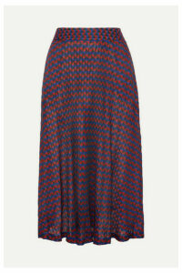 Wales Bonner - Jacquard-knit Midi Skirt - Burgundy