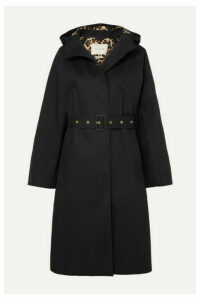 Mackintosh - Hooded Bonded Cotton Trench Coat - Black