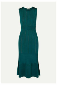 Jason Wu - Ribbed Stretch-knit Midi Dress - Emerald