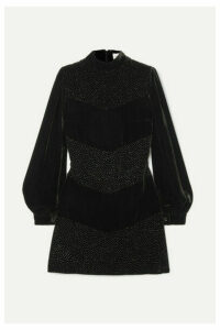 Raquel Diniz - Chloe Crystal-embellished Velvet Mini Dress - Black